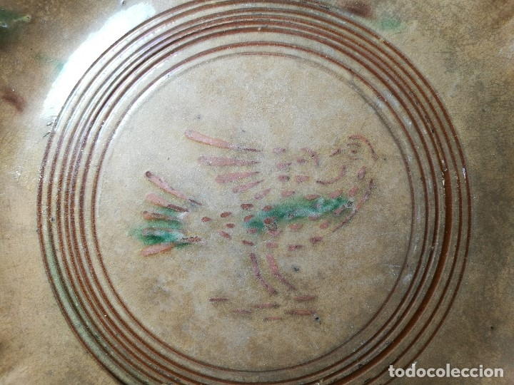 Antigüedades: -ANTIGUO PLATO FUENTE BANDEJA DE MATARÓ ?? ( TERRISSA POPULAR ) S.XVIII- XIX ..PALOMA.. COLOM - Foto 43 - 129388723