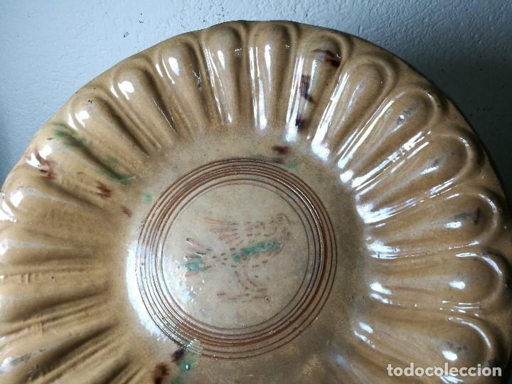 Antigüedades: -ANTIGUO PLATO FUENTE BANDEJA DE MATARÓ ?? ( TERRISSA POPULAR ) S.XVIII- XIX ..PALOMA.. COLOM - Foto 52 - 129388723