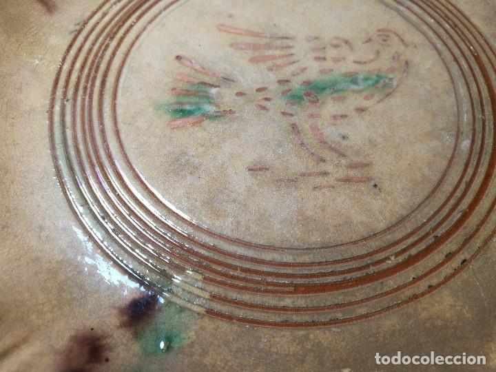 Antigüedades: -ANTIGUO PLATO FUENTE BANDEJA DE MATARÓ ?? ( TERRISSA POPULAR ) S.XVIII- XIX ..PALOMA.. COLOM - Foto 55 - 129388723