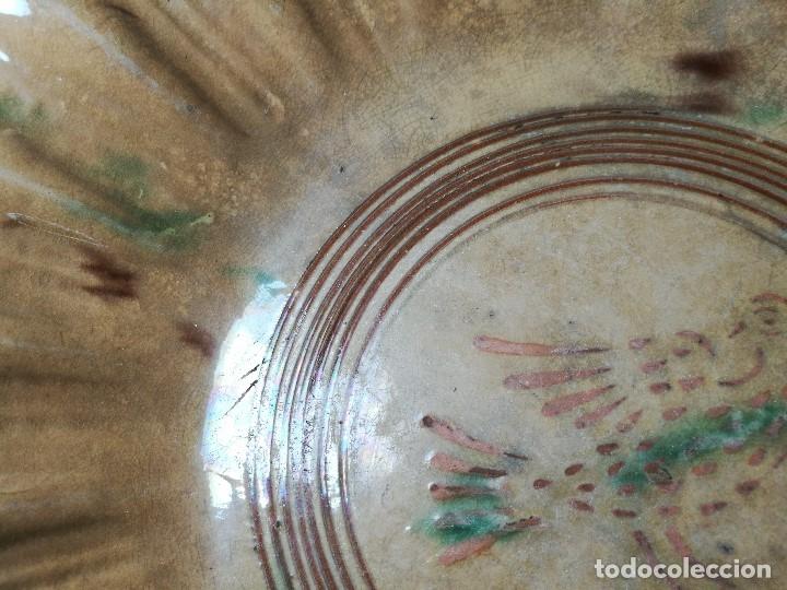 Antigüedades: -ANTIGUO PLATO FUENTE BANDEJA DE MATARÓ ?? ( TERRISSA POPULAR ) S.XVIII- XIX ..PALOMA.. COLOM - Foto 56 - 129388723