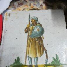 Antigüedades: AZULEJO CATALÁN XVIII ORIGINAL. Lote 129415508