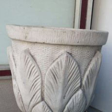 Antigüedades: MACETERO DE PIEDRA LABRADA. Lote 129418034