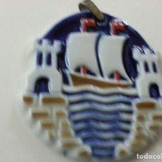 Antigüedades: ANTIGUA MEDALLA O CASTRO - ESCUDO DE SADA -SARGADELOS-N. Lote 129428631