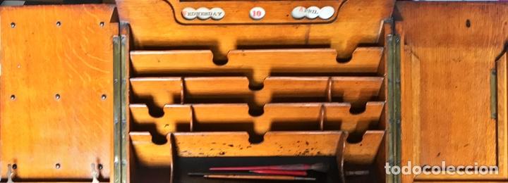 Antigüedades: Escribanía o Escritorio de Sobremesa en Nogal o Roble (?), Siglo XIX (?) - Foto 2 - 129429340
