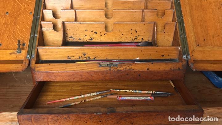 Antigüedades: Escribanía o Escritorio de Sobremesa en Nogal o Roble (?), Siglo XIX (?) - Foto 7 - 129429340