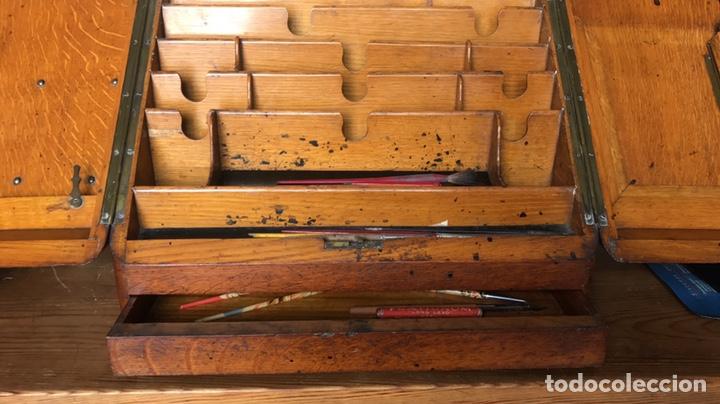 Antigüedades: Escribanía o Escritorio de Sobremesa en Nogal o Roble (?), Siglo XIX (?) - Foto 8 - 129429340