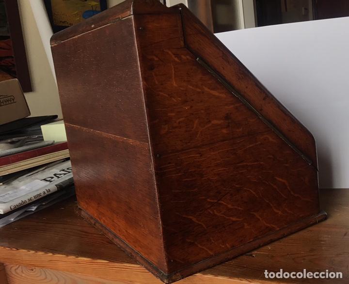 Antigüedades: Escribanía o Escritorio de Sobremesa en Nogal o Roble (?), Siglo XIX (?) - Foto 21 - 129429340