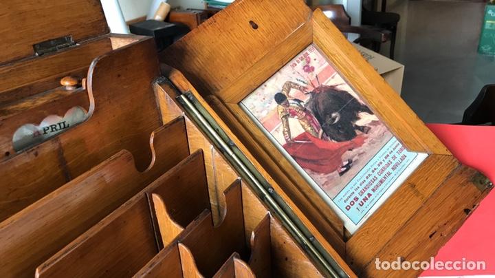 Antigüedades: Escribanía o Escritorio de Sobremesa en Nogal o Roble (?), Siglo XIX (?) - Foto 24 - 129429340