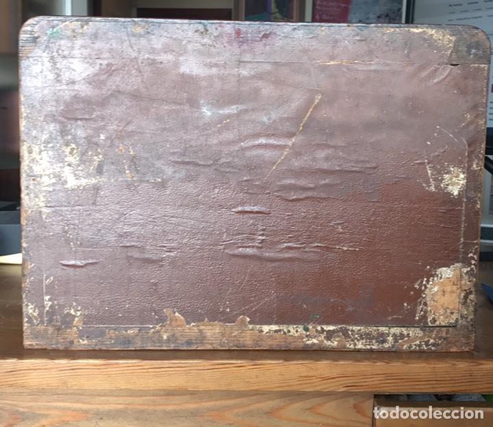 Antigüedades: Escribanía o Escritorio de Sobremesa en Nogal o Roble (?), Siglo XIX (?) - Foto 26 - 129429340