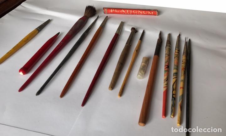 Antigüedades: Escribanía o Escritorio de Sobremesa en Nogal o Roble (?), Siglo XIX (?) - Foto 28 - 129429340