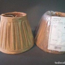 Antigüedades: PAREJA DE PANTALLAS DE PINZA PARA LAMPARA (MUEVAS). Lote 129439751