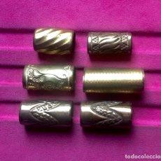 Antigüedades: 6 ANILLAS ANTIGUAS DE METAL PARA RESTAURACIÓN DE BASTONES. 3, 3,4, 4 Y 4,6 CM LARGO . VELL I BELL. Lote 129474003