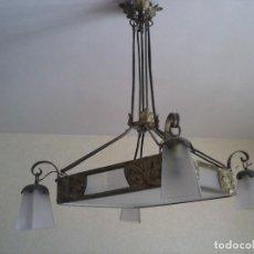 Antigüedades: MARAVILLOSA LAMPARA MODERNISTA. Lote 129478987