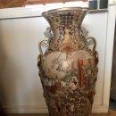 Antigüedades: IMPORTANTE JARRÓN ORIENTAL PINTADO A MANO MADE IN SPAIN NÚMERO DE OBRA 174 TELEFÓNICA. Lote 129494247