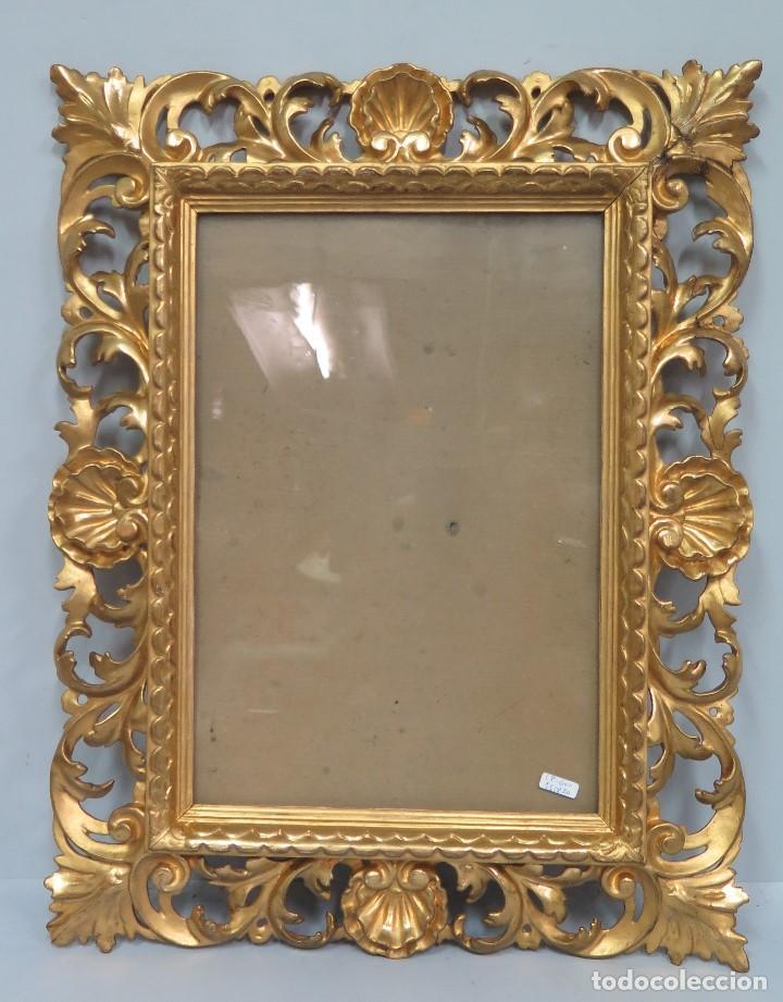 precioso marco de madera tallada en pan de oro. - Comprar Marcos ...