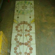 Antigüedades: LOTE 14 ANTIGUOS AZULEJOS PORCELANA VALENCIANA IMAGEN ESCENA PANEL -PILAR - MURO -JARDIN -ETC. Lote 129503475