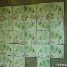 Antigüedades: LOTE 30 ANTIGÜOS AZULEJOS VALENCIANOS IMAGEN DECORACION PARED - PANEL - JARDIN ETC. Lote 129506367