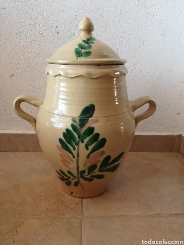 ANTIGUA ORZA CON TAPA (Antigüedades - Porcelanas y Cerámicas - Lucena)