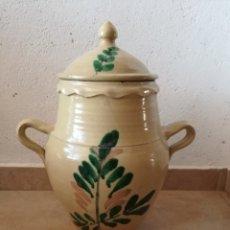 Antigüedades: ANTIGUA ORZA CON TAPA. Lote 129508198