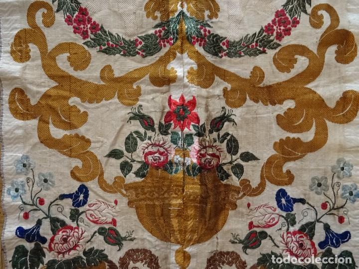 SEDA VALENCIANA SIGLO XVIII (Antigüedades - Moda - Bordados)