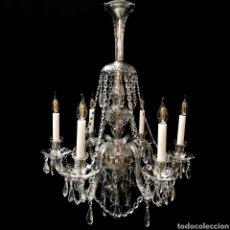Antigüedades: LAMPARA ARAÑA DE CRISTAL - MERCANTIC. Lote 129530763