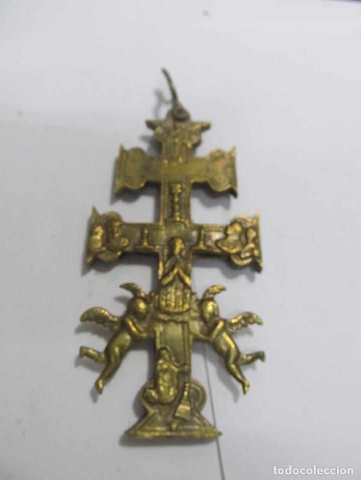 CRUZ DE CARAVACA GRANDE DE BRONCE (Antigüedades - Religiosas - Cruces Antiguas)