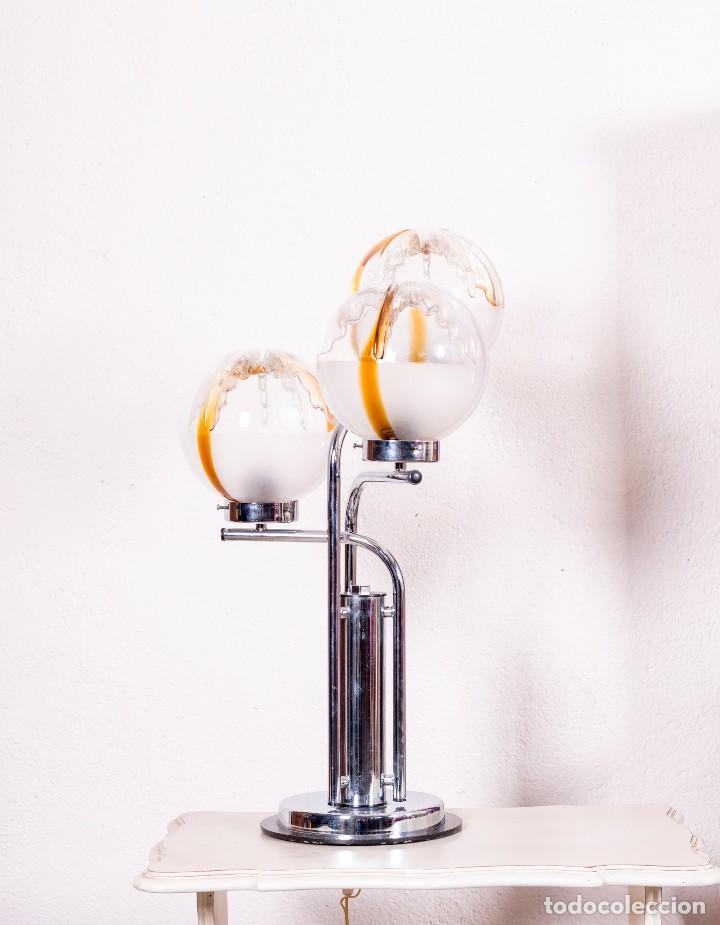 Antigüedades: Lámpara De Sobremesa De Cristal De Murano - Foto 2 - 129540691