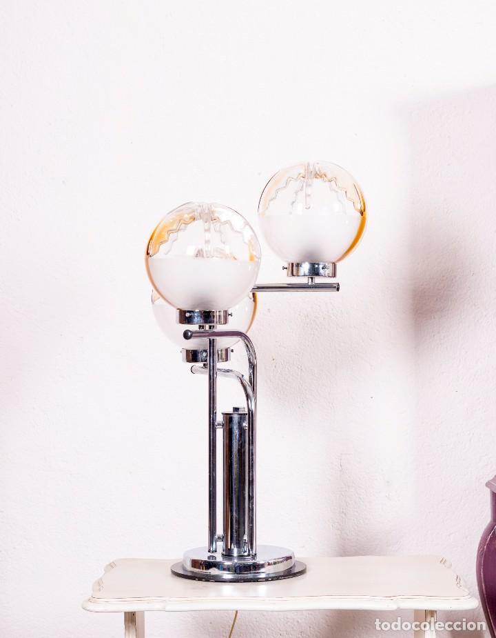 Antigüedades: Lámpara De Sobremesa De Cristal De Murano - Foto 3 - 129540691
