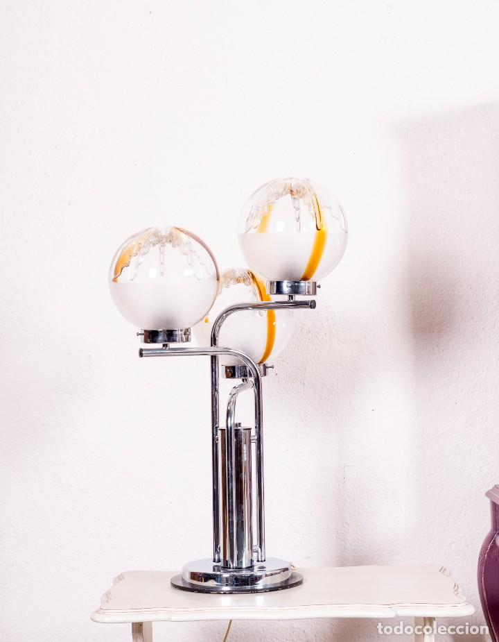 Antigüedades: Lámpara De Sobremesa De Cristal De Murano - Foto 4 - 129540691