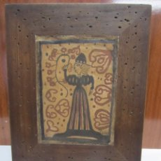 Antigüedades: CUADRO CON BALDOSA SOCARRAT PINTADO A MANO - PROYECTO VIVIR. Lote 129548163