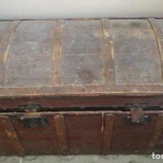 Antigüedades: BAUL O ARCON DE MADERA DEL SIGLO XIX, ARCA, COFRE - 18536. Lote 129553475