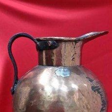 Antigüedades: USOS DEL VINO. GRAN MEDIDA DE VINO EN COBRE MARTILLADO.. Lote 129603715