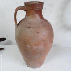 Antigüedades: JARRON DE BARRO DE 43 CM DE ALTURA. Lote 129656459