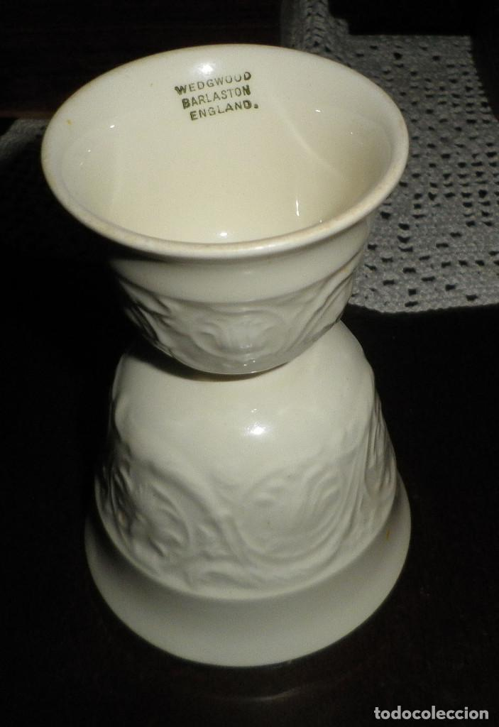 HUEVERA PORCELANA INGLESA WEDGWOOD DOBLE (Antigüedades - Porcelanas y Cerámicas - Inglesa, Bristol y Otros)
