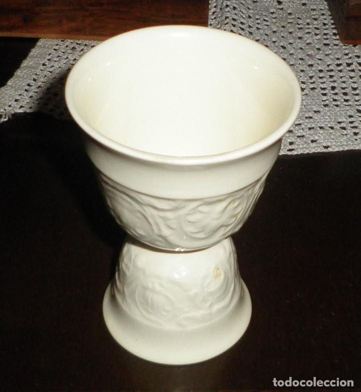 Antigüedades: huevera porcelana inglesa wedgwood doble - Foto 2 - 129663883