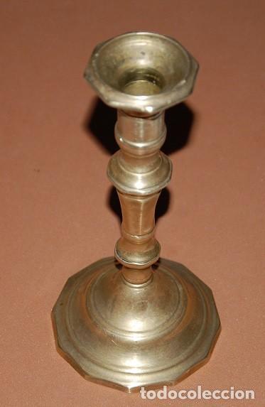 ANTIGUO CANDELABRO DE LATÓN-02 (Antigüedades - Iluminación - Candelabros Antiguos)