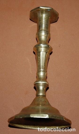 Antigüedades: ANTIGUO CANDELABRO DE LATÓN-02 - Foto 2 - 129686167