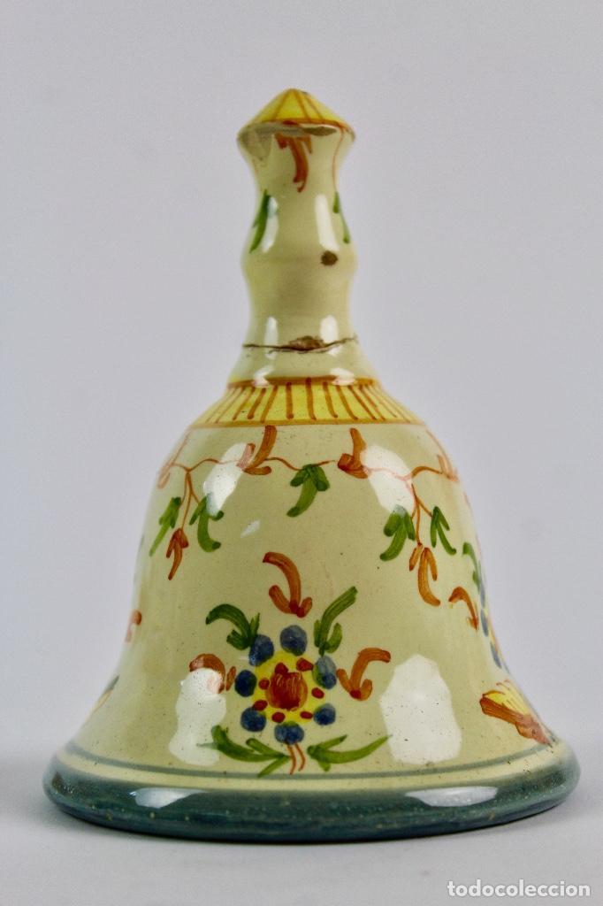 CAMPANA DE CERAMICA DE ALCORA. (Antigüedades - Porcelanas y Cerámicas - Alcora)