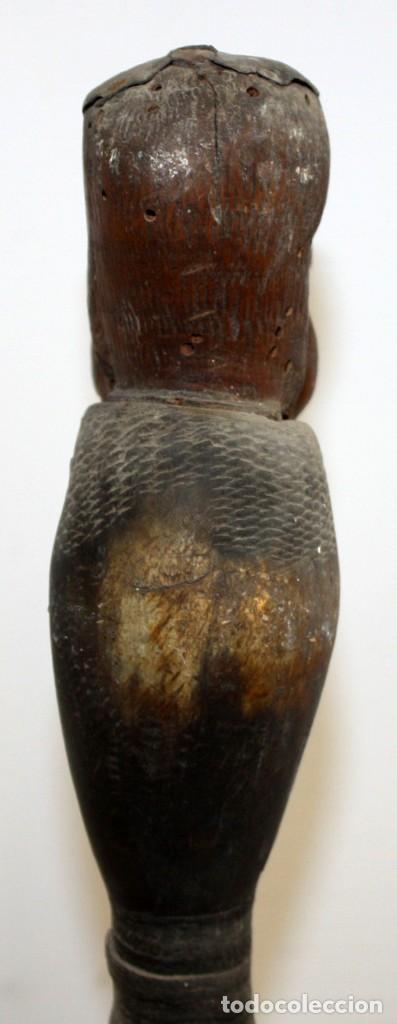 Antigüedades: precioso bastón africano siglo (xix) - Foto 4 - 129966347