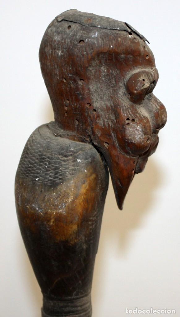 Antigüedades: precioso bastón africano siglo (xix) - Foto 7 - 129966347