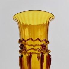 Antigüedades: COPA DE CRISTAL SOPLADO COLOR AMBAR.SIGLO XIX.. Lote 129966775