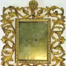 Antigüedades: PORTARETRATOS. BRONCE CINCELADO. ESPAÑA. SIGLO XX. Lote 129976519
