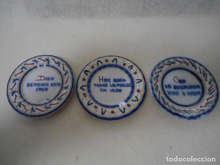 LOTE ANTIGUO PLATITOS (Antigüedades - Porcelanas y Cerámicas - Otras)