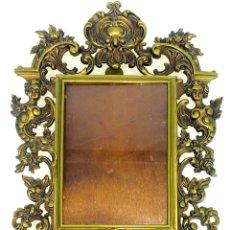 Antigüedades: PORTARETRATOS. BRONCE CINCELADO. ESPAÑA. SIGLO XX. Lote 129977099