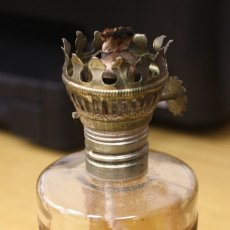 Antigüedades: QUINQUE ANTIGUO DR. ELY PARSON'S FAMOUS MIRACLE OIL LAMP. REINO UNIDO. CONSERVA PARTE DE LA MECHA. Lote 129979356