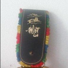 Antigüedades: ANTIGUA CAMPANA DE COLECION METAL DORADO PINTADA A MANO MAD SUIZA LA CHAUX DE FONDS. Lote 129986291
