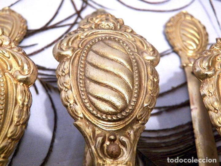 Antigüedades: Alzapaños, Sostenedor Cortinas, Conjunto 3 Sujeta Cortinas - Foto 2 - 129996855