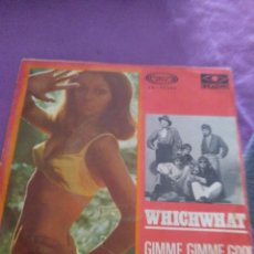 Discos de vinilo: WHICHWHAT GIMME GIMME GOOD LOVIN WONDERLAND OF LOVE MOVIE PLAY. Lote 129997479