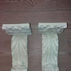 Antigüedades: 2 MENSULAS, SIGLO XVII, MADERA Y POLICROMIA. Lote 130001907