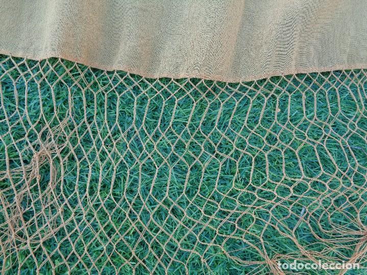 Antigüedades: Bonito Mantón de Manila de color marron claro - Foto 5 - 130006995